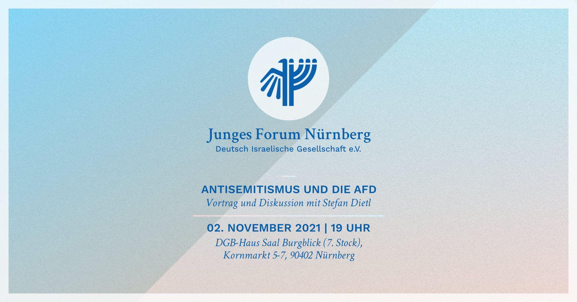 Antisemitismus und die AfD - Vortrag und Diskussion mit Stefan Dietl